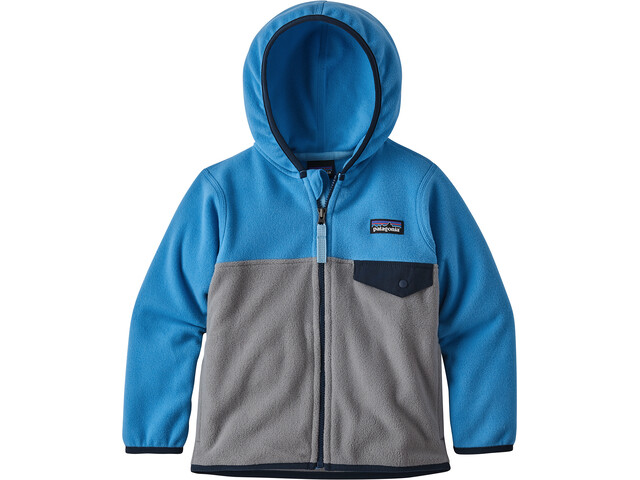 Patagonia Micro D Snap-T Jacket Barn feather grey with port blue